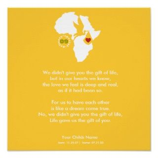 Adoption Gotcha Day   Commemorative Poem Print