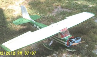 CESSNA 150 RC AIRPLANE 65 INCH WINGS TIGRE 61 ENGINE GAS POWERED