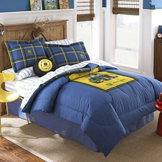 John Deere Blue Denim Comforter & Accessories