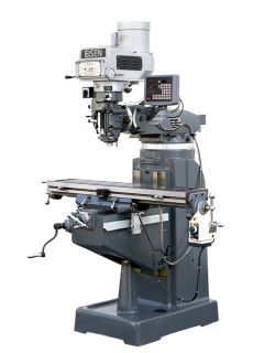 EISEN R 2A 9x49 Vertical Milling Machine, 3HP, DRO and Powerfeed