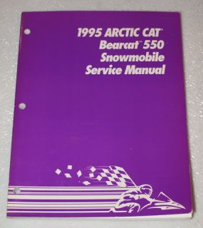 1995 Arctic Cat Bearcat 550 550cc Snowmobile Factory Shop Service