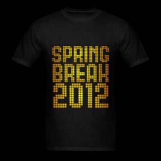 Spring Break 2012 Neon Design T Shirt 9343865