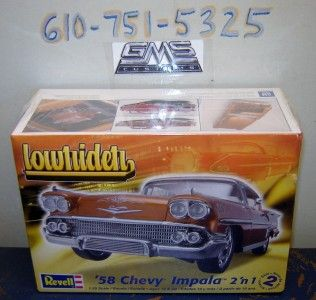 Revell Model Kit 2073 1 25 1958 Chevy Impala 2N1 Factory SEALED