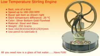 New Low Temperature Stirling Engine UK STOCK Scientific Toy For