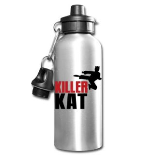 KILLER CAT ninja marital arts cat funny! Bottle ID