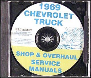 1969 Chevrolet Truck Shop Manual CD Pickup Suburban Van Chevy