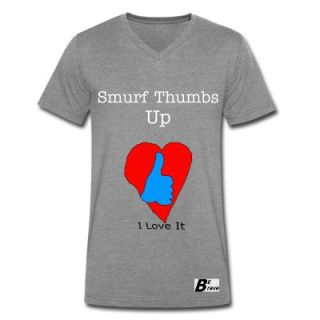 Smurf Thumbs Up V Neck T Shirt 8297368