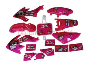 Pink Plastics 3M Mulisua Decals Graphics for Honda Copy CRF50 50 XR50
