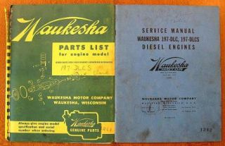Waukesha Diesel Engines Parts List for Engine Model