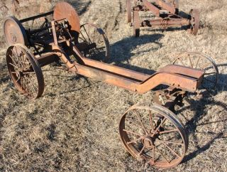 Economy Hercules Drop Frame Hit Miss Gas Engine Saw Rig Truck