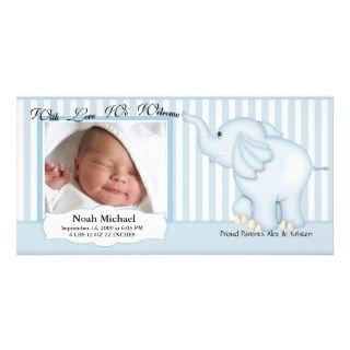 Elefant süße Baby Geburt Photokarten