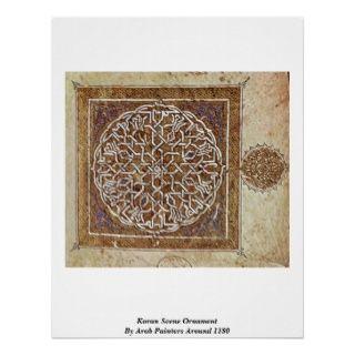 Koran Szenen Verzierung durch arabische Maler gege Plakat