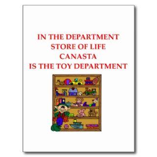 CANASTA Spieler Geschenkt shirts Postkarten